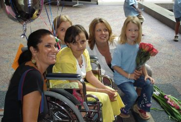 Iraqi girl arrives in Greenville to receive prosthetic legs